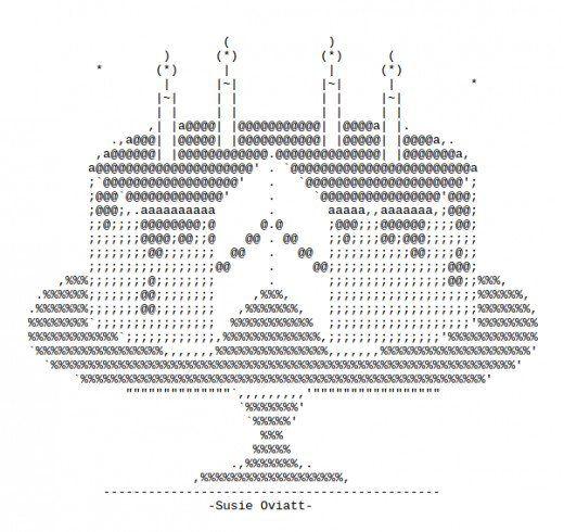 ASCII art for birthdays. Even if it's your unbirthday.