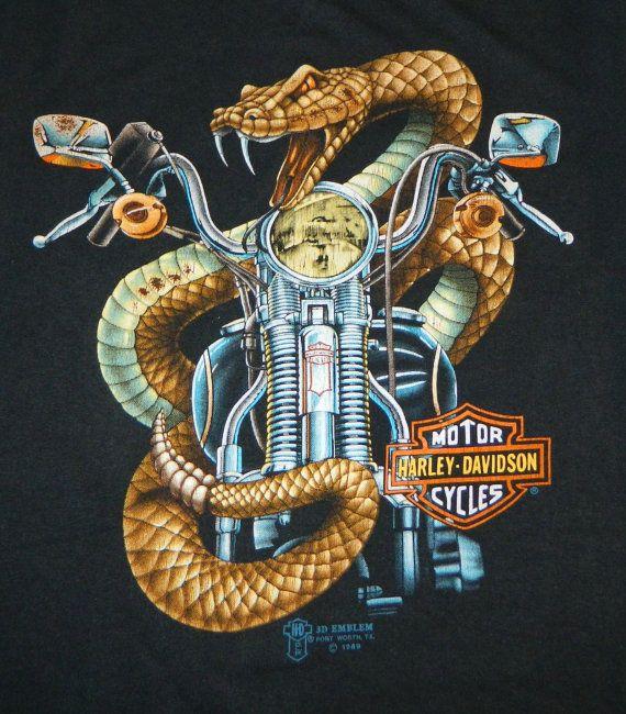 Vintage 1989 Harley Davidson Muscle Shirt Large Tank Top 3D Emblem