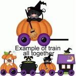 halloween train cat in pumpkin pnc