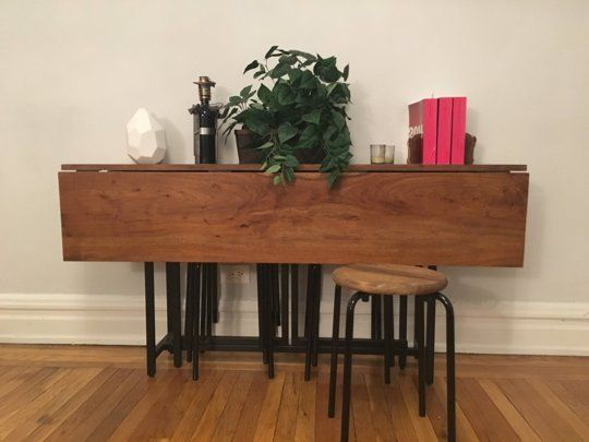 best 25 drop leaf table ideas on pinterest leaf table compact dining table and space saving. Black Bedroom Furniture Sets. Home Design Ideas