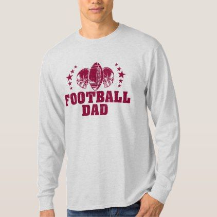 Football Dad American Football Father Maroon Print T-Shirt - fathers day best dad diy gift idea cyo personalize father family