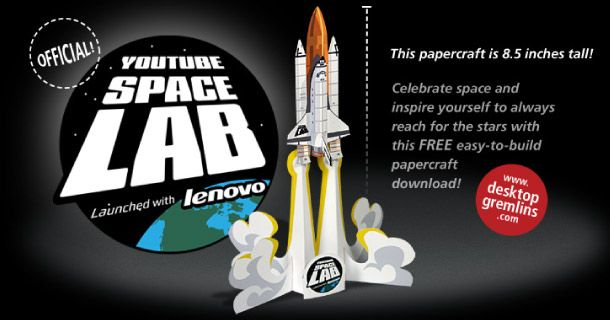 YouTube Space Lab Official Papertoy