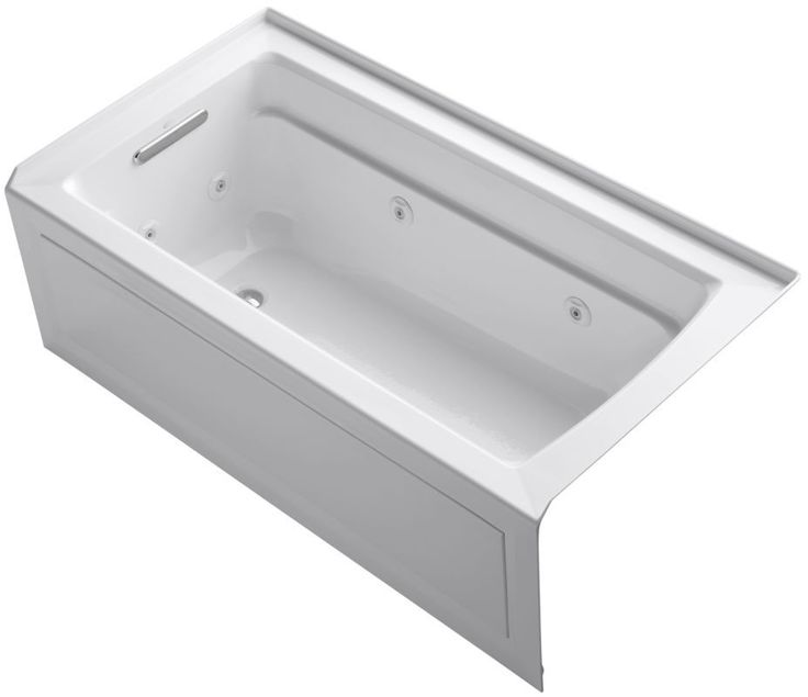 Kohler K 1122 La Archer Collection 60 Three Wall Alcove Jetted Whirlpool Bath T White Tub