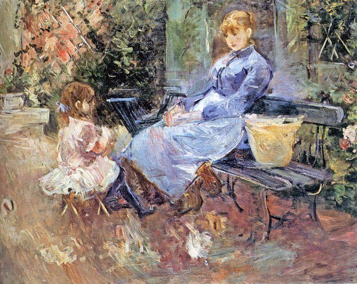 Berthe Morisot - La fable (the fable) [1883] huile sur toile 65 x 81 cm -  nevsepic