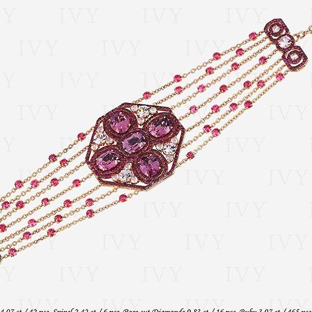 #ivynewyork #bracelet #pink #spinel #diamonds #gold #ivy www.ivynewyork.com