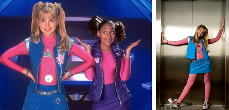 Zeedus lapeedus!  It's amazing how simple it is to be a girl of the 21st century.  Throw on a solid colored vest and skirt with some #metallic tights and you'll be ready for the #Protozoa concert. #Zenon #90s