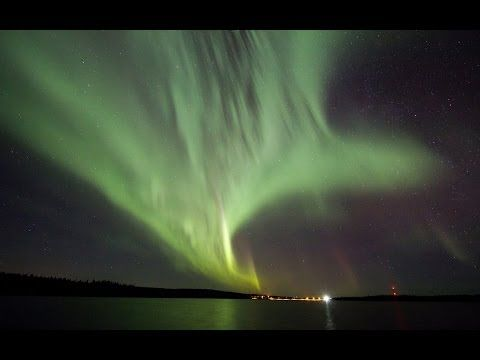Northern lights in Santa Claus hometown Rovaniemi in Lapland in Finland
