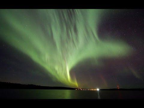 Aurora polar en Rovaniemi, la ciudad de Papá Noel / Santa Claus en Finlandia