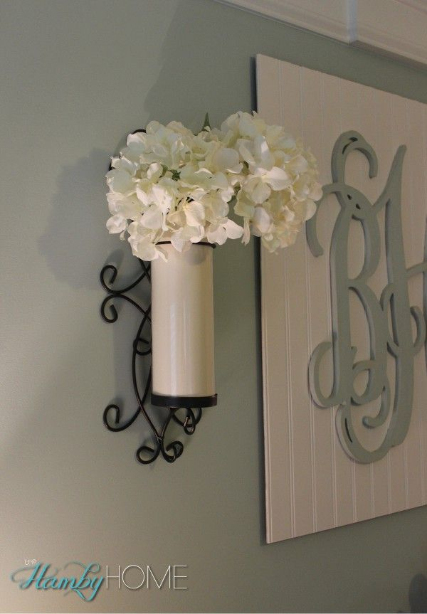Use Wall Sconces as Vases