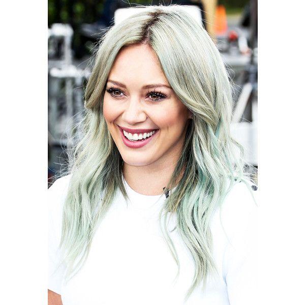 Осторожно, окрашено цветные волосы знаменитостей ❤ liked on Polyvore