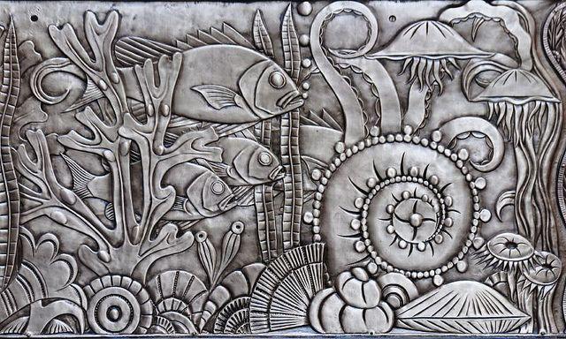 Art Deco frieze, Chanin Building, New York.