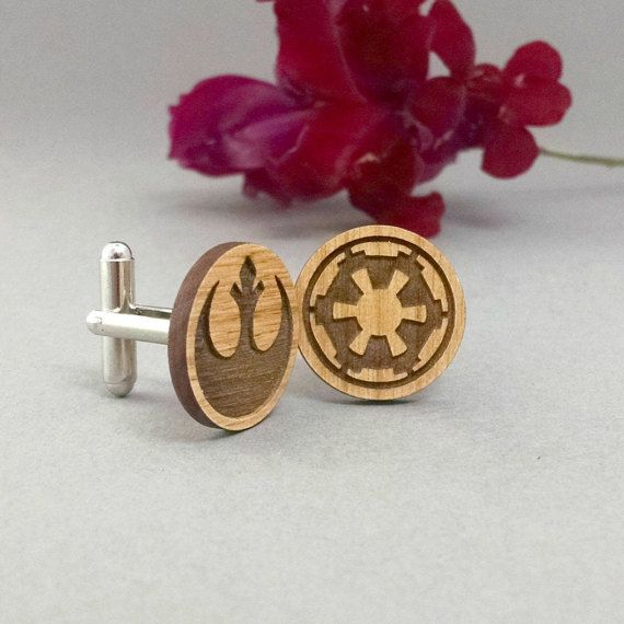 Star Wars Rebel Alliance and Galactic Republic Cuff Links by VectorEngraving