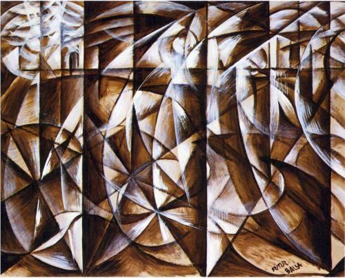 Velocity of Cars and Light (1913) - Giacomo Balla
