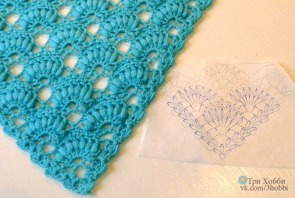 Delicadezas en crochet Gabriela: Chal con una bella puntada en crochet