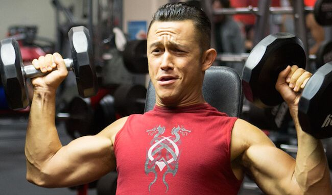 Joseph Gordon-Levitt training for the 2013 film Don Jon...