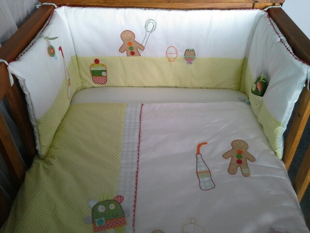 Mamas and Papas Gingerbread Quilt and Bumper Set