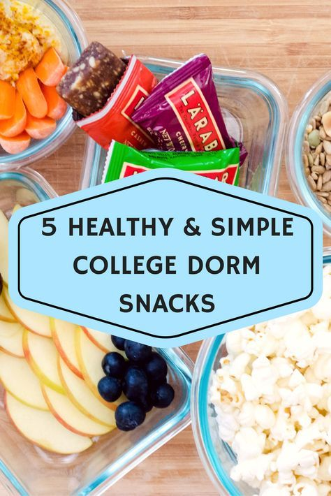 Snack ideas for living on campus in college! Perfect for those who don't have kitchens or time to prepare crazy meals