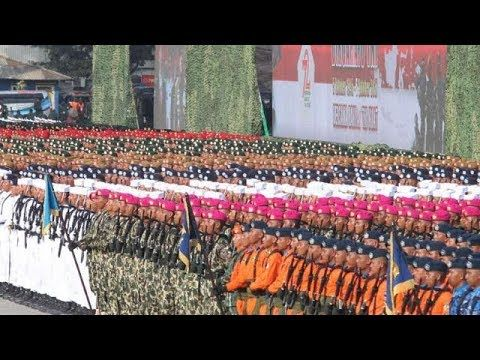 Gagahnya Para Pasukan TNI di Upacara HUT TNI Ke 72, DIRGAHAYU TNI BERSAM...