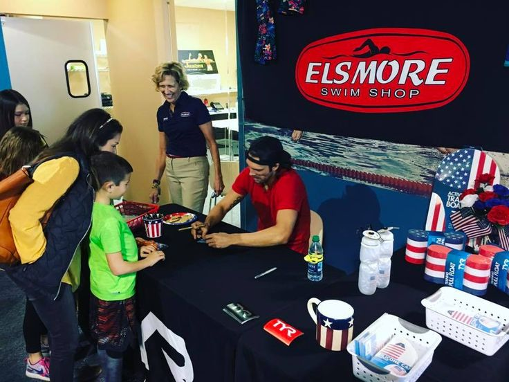Olympic Gold Medalist Cody Miller signing autographs this past weekend at the grand opening of Elsmore Swim Shop's new location! #TeamTYR