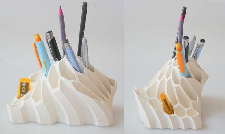 3D-Stift Halterung mit besonderem Design aus dem 3D-Drucker.