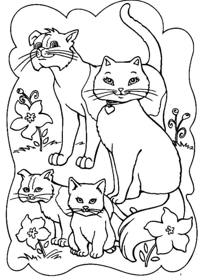Cat Family Coloring Pages Barbie Coloring Pages Cat Coloring Page Family Coloring Pages
