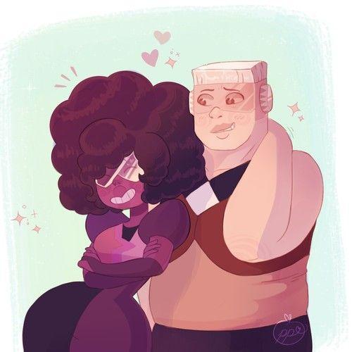 """Steven: """"jamás pasará""""  Connie: """"Por qué no?""""  Steven: """"Porque Garnet ya esta en una relación, ella ES una relación!"""""""