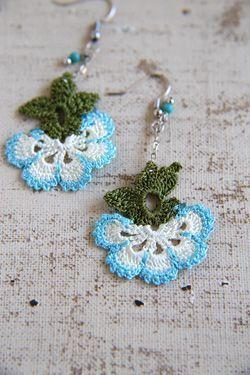 oya crochet earrings | Crochet