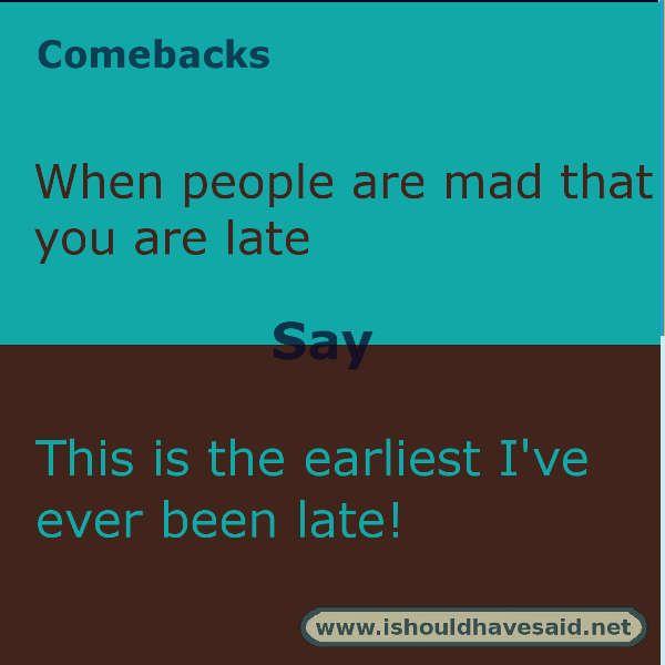 Smart alec comebacks
