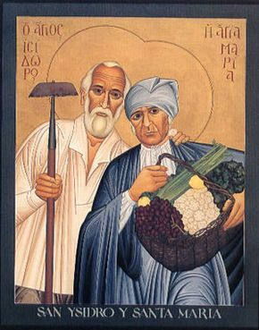 St. Isidore  and St. Maria--patron saints of farmers