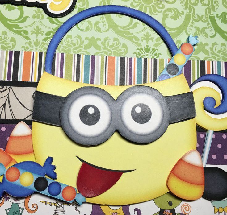 Minion Halloween premade scrapbook pages paper piecing 2 - 12 x 12 pages | Crafts, Scrapbooking & Paper Crafts, Pre-Made Pages & Pieces | eBay!