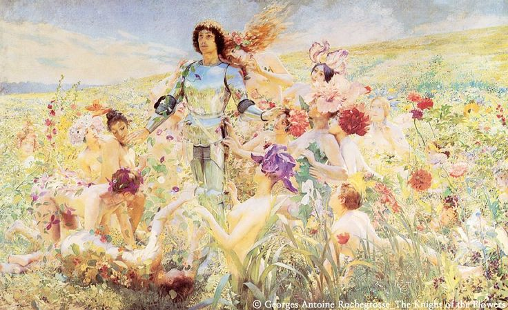 Georges Antoine Rochegrosse - The Knight the Flowers #art / Your Lifetime Gallery ::: www.cubbying.com