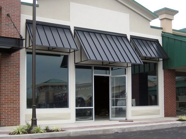 Image Result For Commercial Black Awnings Metal Awnings For Windows House Awnings Metal Awning