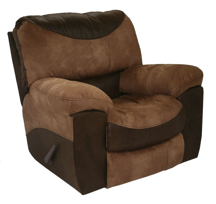 Portman Two Tone Brown & Tan Reclining Chair Casual Contemporary Recliner