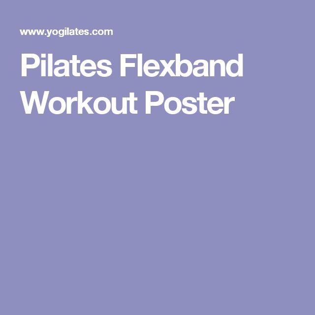 Pilates Flexband Workout Poster