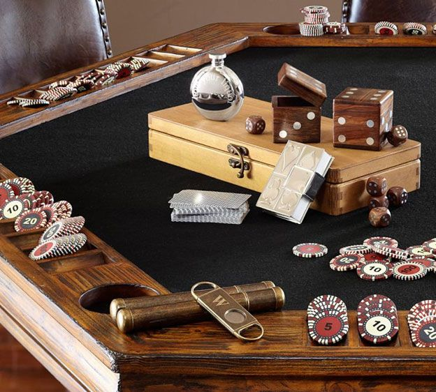 1000 images about accidentally there on pinterest for Pottery barn poker table