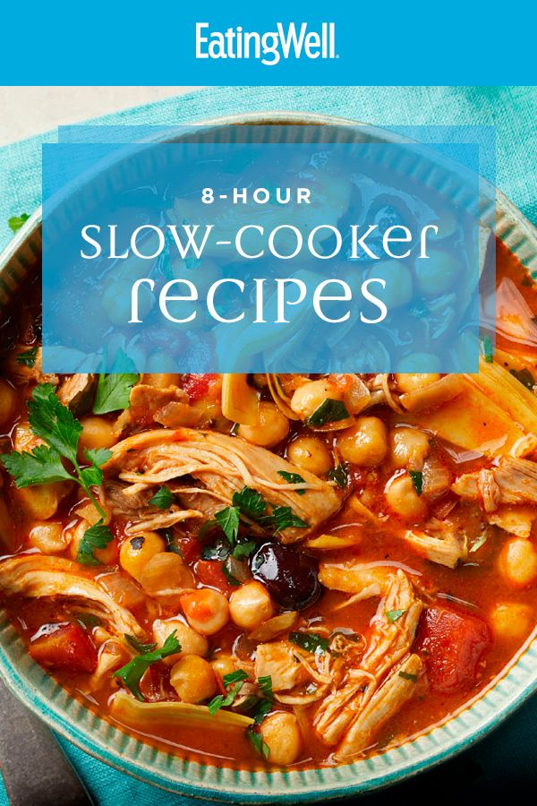 8 Hour Slow Cooker Recipes That Cook All Day While You Re At Work Crockpot Recipes Slow Cooker Eating Well Recipes Slow Cooker Recipes