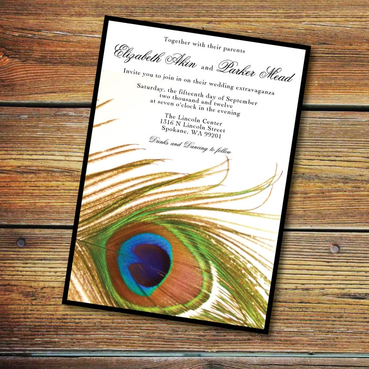 wedding invitations peacock theme%0A Peacock Themed Wedding Invitations