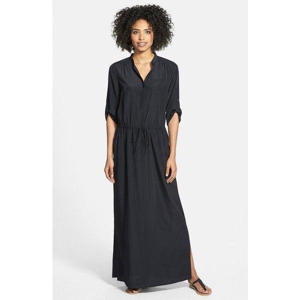 Petite long sleeve maxi dress