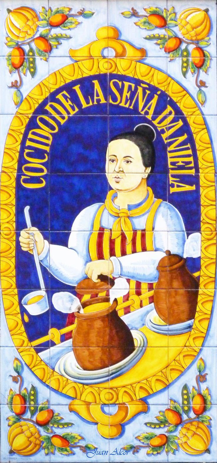 Azulejos. Taberna de la Daniela (Madrid)  Spain