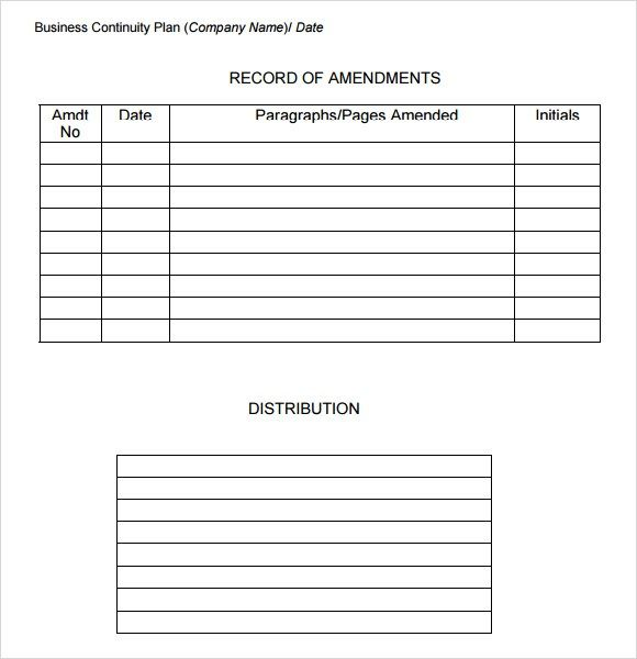 Business Continuity Plan Checklist Template Free Printables Word