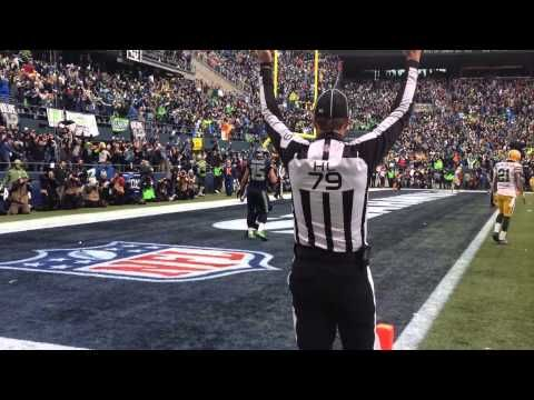 awesome NFC CHAMPIONSHIP GAME Seahawks Comeback // Field Perspective