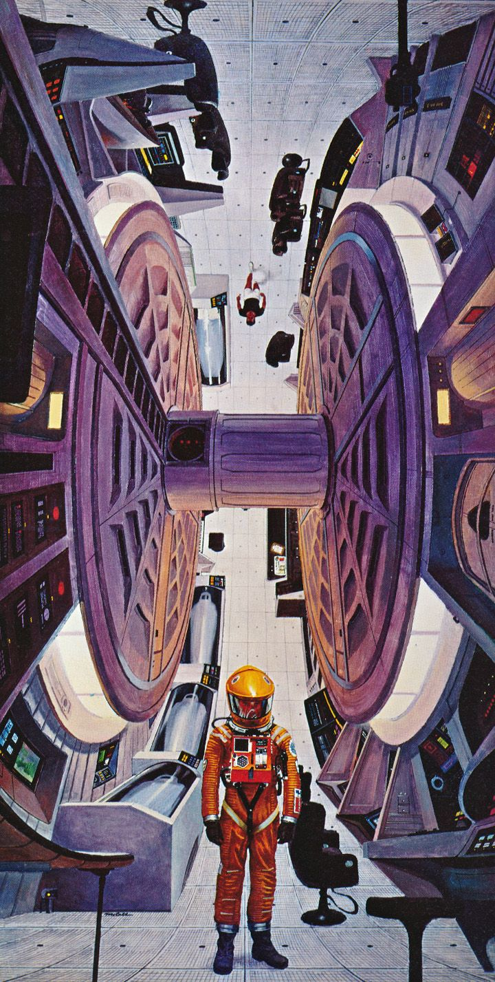 martinlkennedy:  One of Robert McCall's classic poster paintings for 2001 A Space Odyssey. From the book Vision of the Future- The Art of Robert McCall (1982)