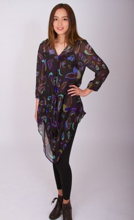 Paisley (sheer silk)