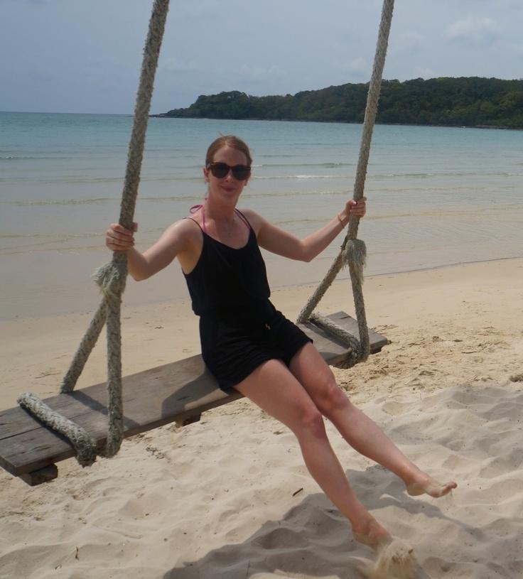 Giant swing on a beautiful beach on Koh Kood. See more here:  http://www.kathrinerostrup.dk/2013/05/exploring-koh-kood-part-ii/
