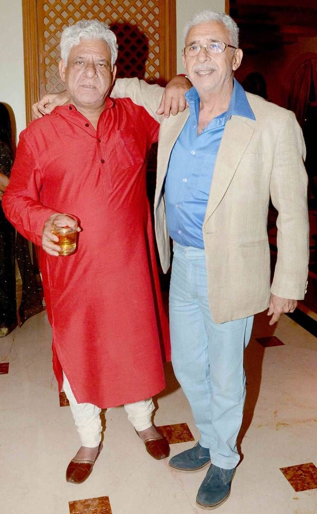 Om Puri and Naseeruddin Shah at Ishaan's birthday party