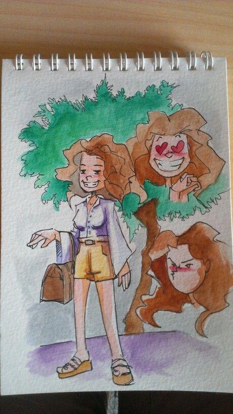 Lucia, mi nuevo personaje en acuarela