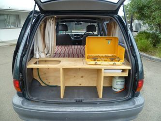 wouldn't want to cook in the van though. Zen Adventure Previa Campers Page - Kitchens