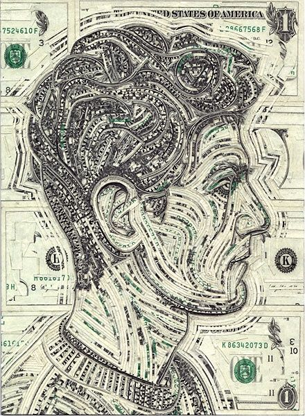 mark wagner collage money artwork | visit greenteadesign com