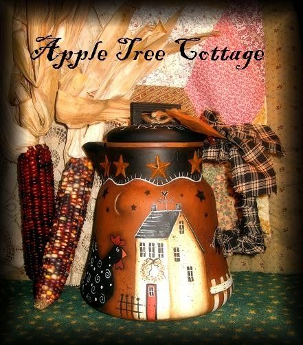 beautifully, hand painted coffee pot
