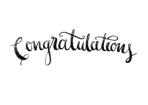 congratulations modern calligraphy by lyeyee on Creative Market - congratulation templates